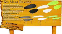 As Mesas Ravena, também conhecidas como mesas borboleta, é o Kit que não pode faltar em seu Show Room.