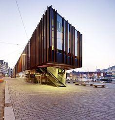 Fish market in Bergen; Bergen, Norway - Eder Biesel Arkitekter