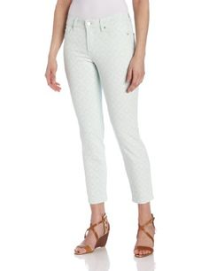 NYDJ Womens Alisha Fitted Ankle Basketweave Jeans Honeydew 10 >>> Want to know more, click on the image.