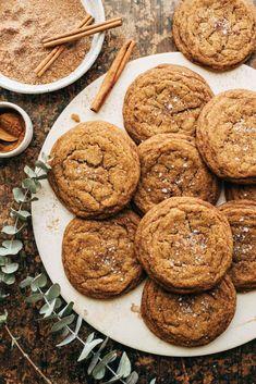 Fall Cookie Recipes, Pumpkin Recipes, Fall Recipes, Pumpkin Butter Cookie Recipe, Pumkin Cookies Recipes, Recipes With Canned Pumpkin, Healthy Pumpkin Cookies, Maple Dessert Recipes, Maple Butter Recipe