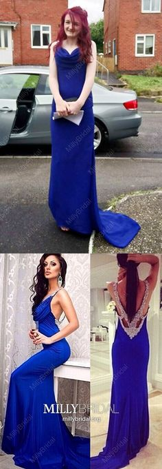 Royal Blue Prom Dresses For Teens, Long Formal Evening Dresses Open Back, 2019 Military Ball Dresses Sexy, Modest Pageant Graduation Party Dresses Chiffon Spring Formal Dresses, Modest Formal Dresses, Vintage Formal Dresses, Royal Blue Prom Dresses, Formal Dresses For Teens, Best Prom Dresses, Backless Prom Dresses, Prom Dresses Online, Cheap Prom Dresses