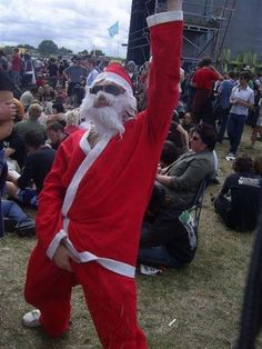 Rock Fest Santa In This Picture: Photo of a santa claus fa