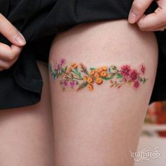 Floral Thigh Piece by River