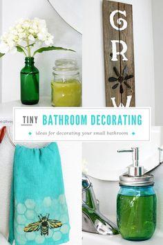 Tiny Bathroom Makeover on a Budget ~ Creative Green Living