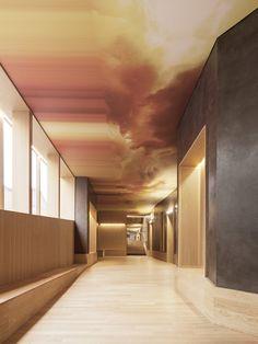 brass ceiling | hallway | Le conservatoire, Versailles, 2016 - Joly&Loiret
