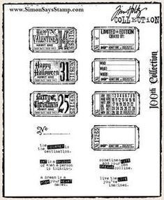 Tim Holtz Cling Rubber Stamps ODDS AND ENDS 100th Set cms100 zoom image