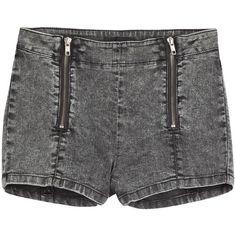 The Kooples Denim Shorts ($82) ❤ liked on Polyvore featuring shorts, bottoms, short, grey, gray shorts, grey jean shorts, the kooples, jean shorts and short jean shorts