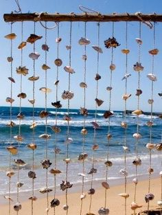 Hanging Shell Beach Decor ~ I'll be making one of these for my N.C. front porch!