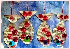 Poissons à l'étalage Recycled Crafts Kids, Kids Crafts, Summer Crafts For Kids, Summer Fun, Class Decoration, Gross Motor Skills, Sea Theme, Process Art, Imaginative Play