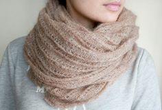 Hey, I found this really awesome Etsy listing at https://www.etsy.com/listing/200817247/beige-scarf-knit-cowl-handmade-scarf