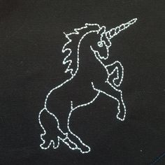 Simple unicorn applique