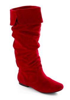 I never realized how much I wanted red boots till NOW. How charming!