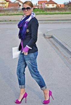 @roressclothes closet ideas #women fashion Violet Pumps Outfit Idea