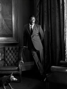 Killer B/W of Idris...this man can wear ...anything!