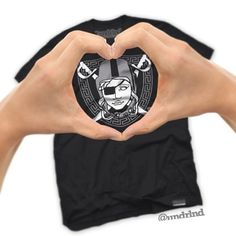 Shop for your Sweetheart for #ValentinesDay with #undrlnd! Raidusa tees are in stock for $28 Small-3XL available. 2-3 Day USPS Priority Shipping (US Only) www.UNDRLND.com #raiders #raidernation #versaceversace #love #valentines #medusa