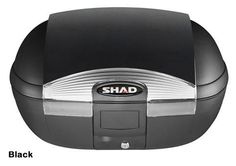 """Shad SH-45 motorcycle top case in black. Designed to attach to most flat luggage racks. Its dimensions are: 16.1"""" L x 22.2"""" W x 12.3"""" H and has a 45 liter capacity. Your price is $188.95. With Free Shipping."""