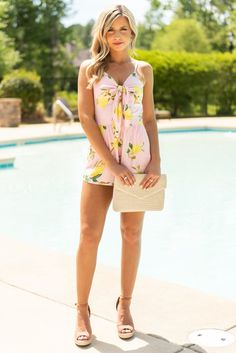 1495daa84056 This Buddy Love romper is so cute and sassy! That lemon print over that  light