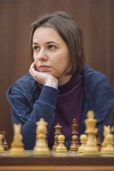 Mariya Muzuchuk This game is from round 2 of the 2018 FIDE Women's World Chess Championship. It is between Ekaterina Atalik with White. Chess Players, Chess Pieces, Champs, Posts, Queen, Female, Woman, Sexy, Blog