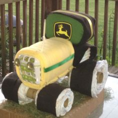 John Dere tractor diaper cake