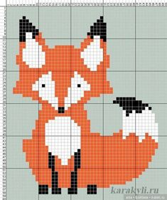 Лисички, схемы для вязания и вышивки / Вязание для кукол / Бэйбики. Куклы фото. Одежда для кукол Baby Cross Stitch Patterns, Hand Embroidery Patterns, Cross Stitch Charts, Cross Stitch Designs, Knitting Charts, Baby Knitting, Cross Stitching, Cross Stitch Embroidery, Fox Crafts