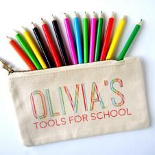 Personalised Tools for School Pencil Case - Striped