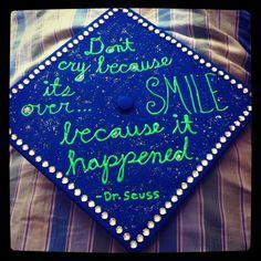 Grad cap with Dr Seuss quote