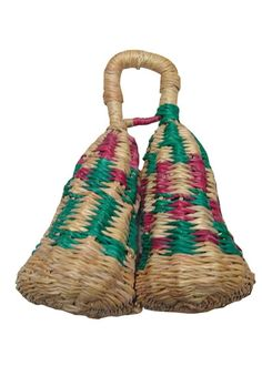 Double Basket Shaker Madie in Ghana from Woven Straw