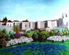 DEALIZED FORTRESS (Alcazaba idealizada) - 166x136 cm = 65x54 in - ASK FOR PRICE /// Pregunta precio. http://www.freijanez.com/