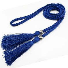 [DWTS]2016 Fashion Classic Wild Women rope belt cummerbunds Thin Braided Tassels Belt Lady All-Match Waistband 9 Colors Optional