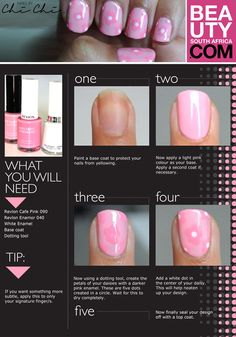 Step by step nail art. #beautysouthafrica