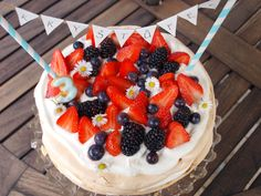 Strawberry, Food And Drink, Birthday Cake, Fruit, Anna Pavlova, Birthday Cakes, Strawberry Fruit, Strawberries, Cake Birthday