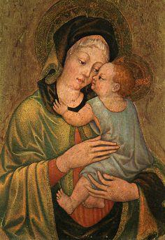 Madonna with Child - MICHELE GIAMBONO (Venezia, ca. 1400 – ca. 1462) #TuscanyAgriturismoGiratola