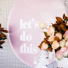 'LET'S DO THIS'   @sketchandetchcreative + @stateofelliott nailing the perfect ceremony sign. Check out our Insta stories for all the…