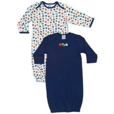 af17fd1189ede Gerber Babyboys Newborn 2 Pack Lap Shoulder Gown Blue 06 Months *** Find out