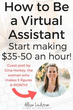 Want to know how to be a virtual assistant? Find out how to get started, what services you can offer, how much you can charge per hour, and more! This is a guest post by Gina Horkey, the woman who makes 5 figured a MONTH! Work From Home Jobs, Make Money From Home, Way To Make Money, How To Make, Earn Money Online, Online Jobs, Earning Money, Virtual Assistant Jobs, Home Based Business