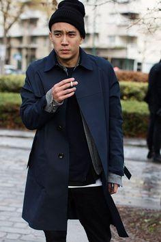 ANT Menswear inspiration: On The Street…. Men's Fashion Today, Milan & Paris « The Sartorialist The Sartorialist, Fashion Moda, Fashion Week, Look Fashion, Mens Fashion, Fashion Hats, Paris Fashion, Mode Masculine, Men Street