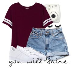 """""""Happy summer!"""" by mickey733 ❤ liked on Polyvore featuring Victoria's Secret PINK, Levi's and adidas"""