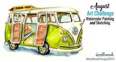 Join artist Andrea England as she shares two fun & easy watercolor projects for kids. These watercolor projects are also fun for adult beginners as well! Watercolor Projects, Easy Watercolor, Watercolor Sketch, Watercolor Illustration, Watercolor Paintings, Watercolors, Artist Life, Heart For Kids, Art Challenge