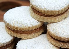 Alfajores Recipe  South American sandwich cookies filled with delectable dulce de leche.