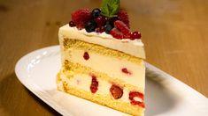 Eveline Wild, Cakes And More, Cheesecake, Food And Drink, Desserts, Sliced Almonds, Vanilla Cream, Yogurt, Raspberries