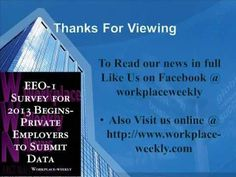 EEO 1 Survey for 2013 Begins  Private Employers to Submit Data