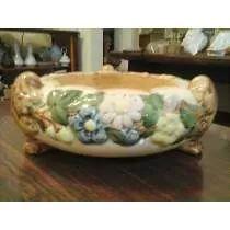 Lindo Centro De Mesa - Fruteira De Porcelana Faiança Antiga (250,00)
