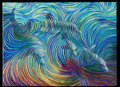 Super cool artist paints the energy that exists all around us ~ Do you see the 4 dolphins?