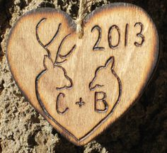 Personalized Christmas Ornament Rustic Buck by dlightfuldesigns, $10.00