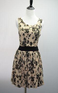 $50 Floral Lace Dress - so romantic!