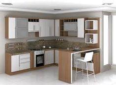 Resultado de imagem para cozinha planejada pequena em l