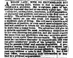 Personal ads from the 19th century