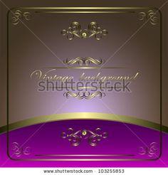 Vintage vector background with golden patterns