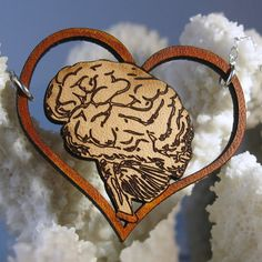 I Love (Your) Brains leather & sterling silver necklace