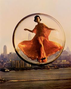"""""""The Bubble series"""" by Melvin Sokolsky, created for the Harper's Bazaar 1963 Spring Collection. Melvin Sokolsky (born in is an American fashion photographer and film director. Color Photography, Fashion Photography, Vintage Photography, Photography Magazine, Creative Photography, Editorial Photography, Classic Photography, Photography Series, New York To Paris"""